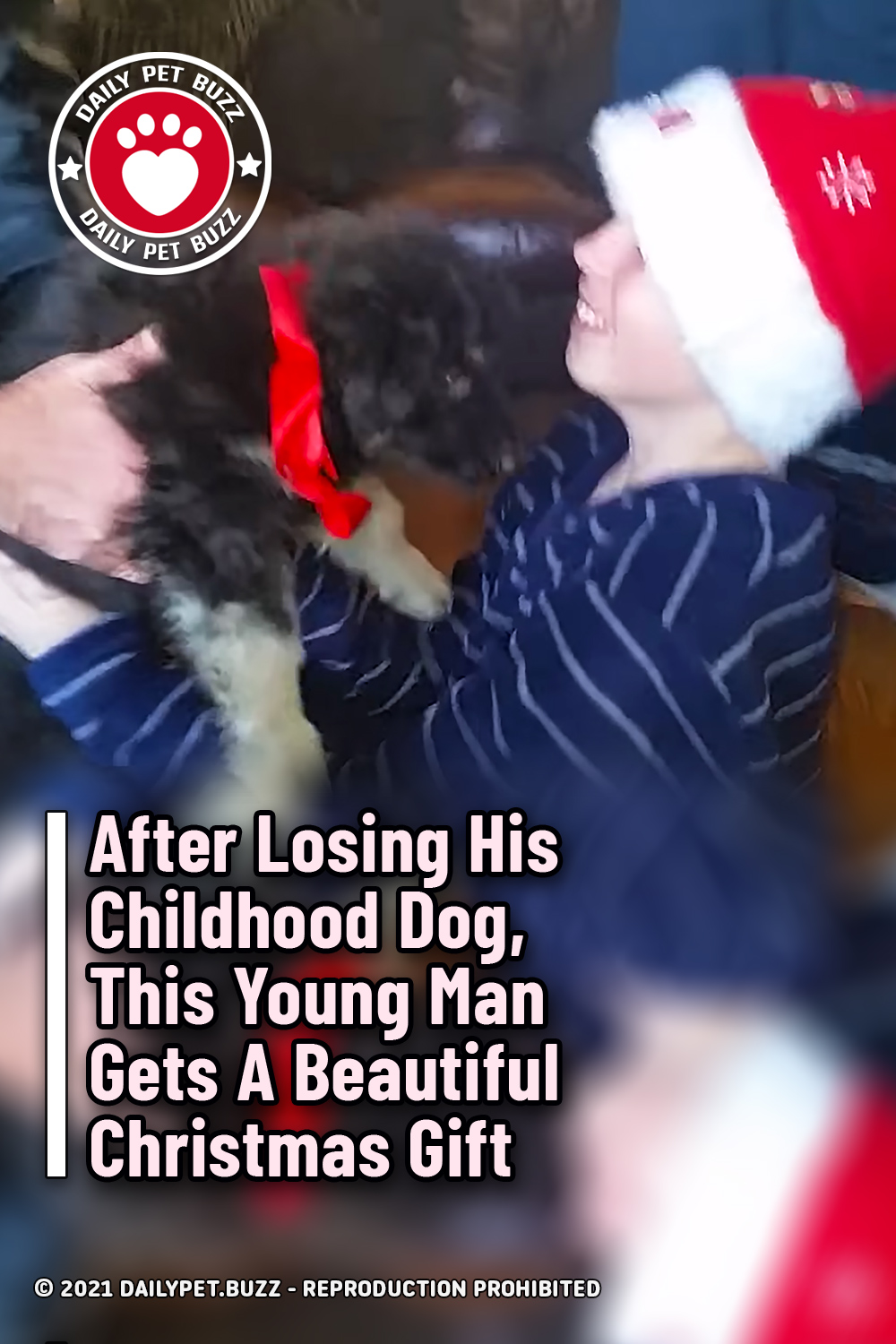 After Losing His Childhood Dog, This Young Man Gets A Beautiful Christmas Gift