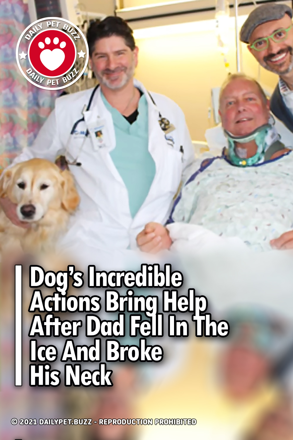 Dog\'s Incredible Actions Bring Help After Dad Fell In The Ice And Broke His Neck