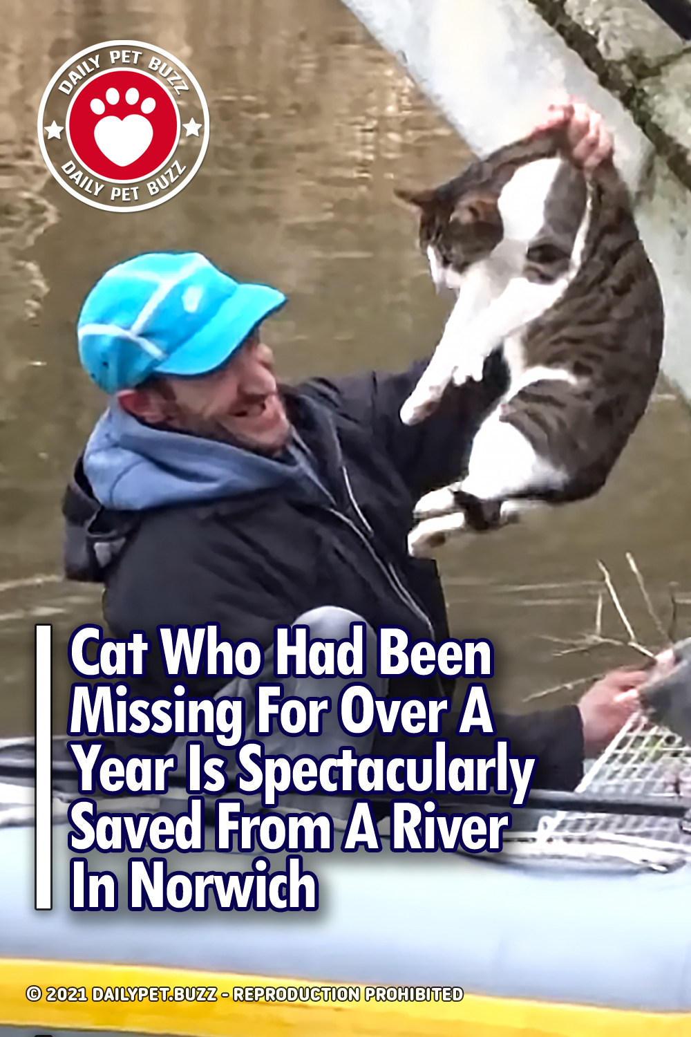 Cat Who Had Been Missing For Over A Year Is Spectacularly Saved From A River In Norwich
