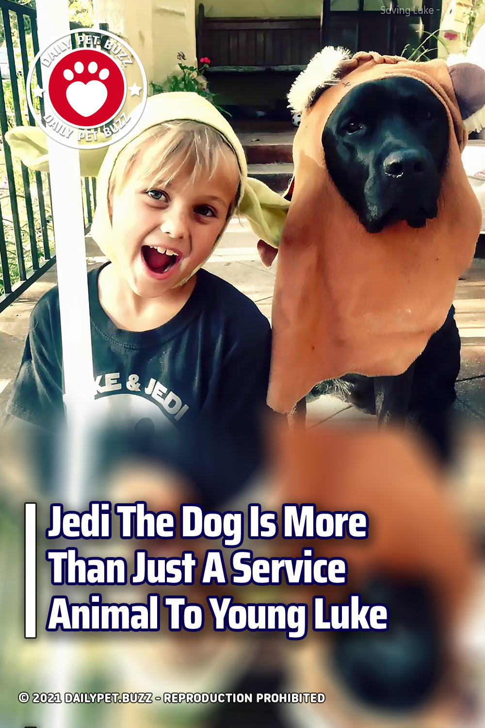 Jedi The Dog Is More Than Just A Service Animal To Young Luke