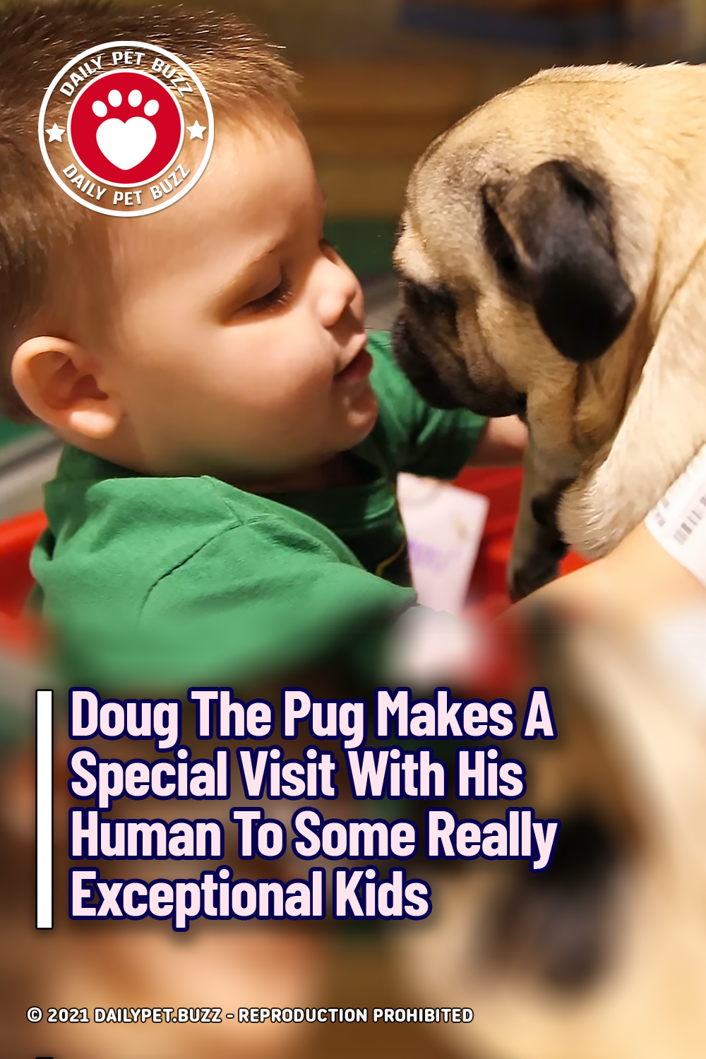 Doug The Pug Makes A Special Visit With His Human To Some Really Exceptional Kids