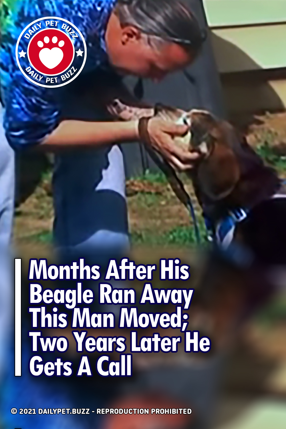 Months After His Beagle Ran Away This Man Moved; Two Years Later He Gets A Call
