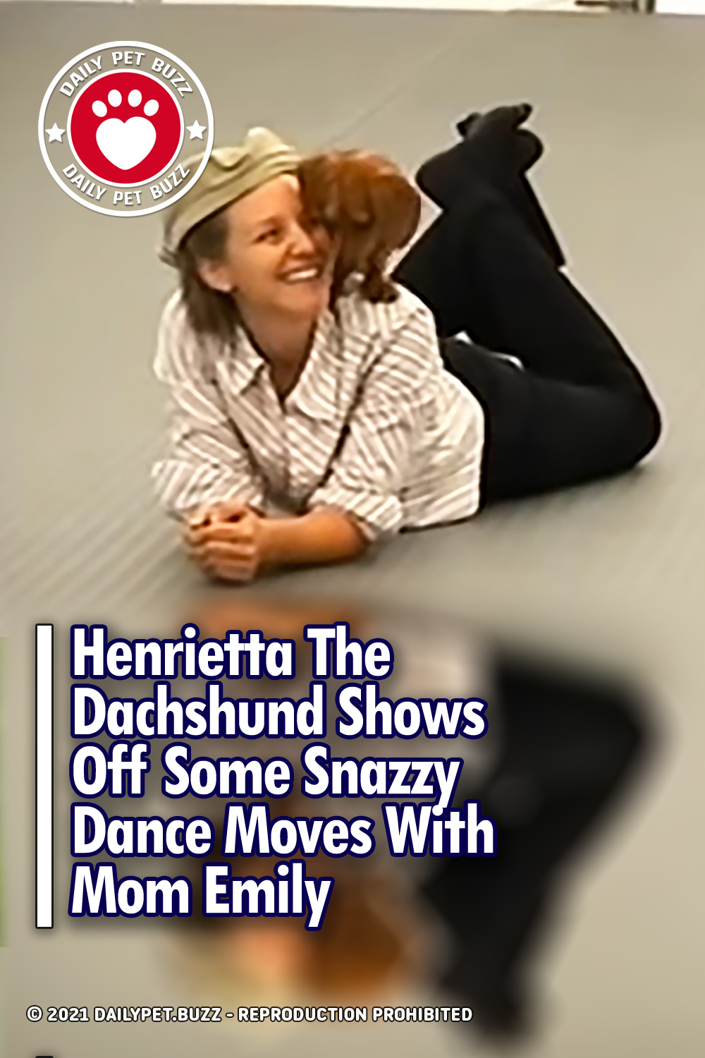 Henrietta The Dachshund Shows Off Some Snazzy Dance Moves With Mom Emily