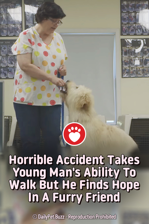 Horrible Accident Takes Young Man\'s Ability To Walk But He Finds Hope In A Furry Friend