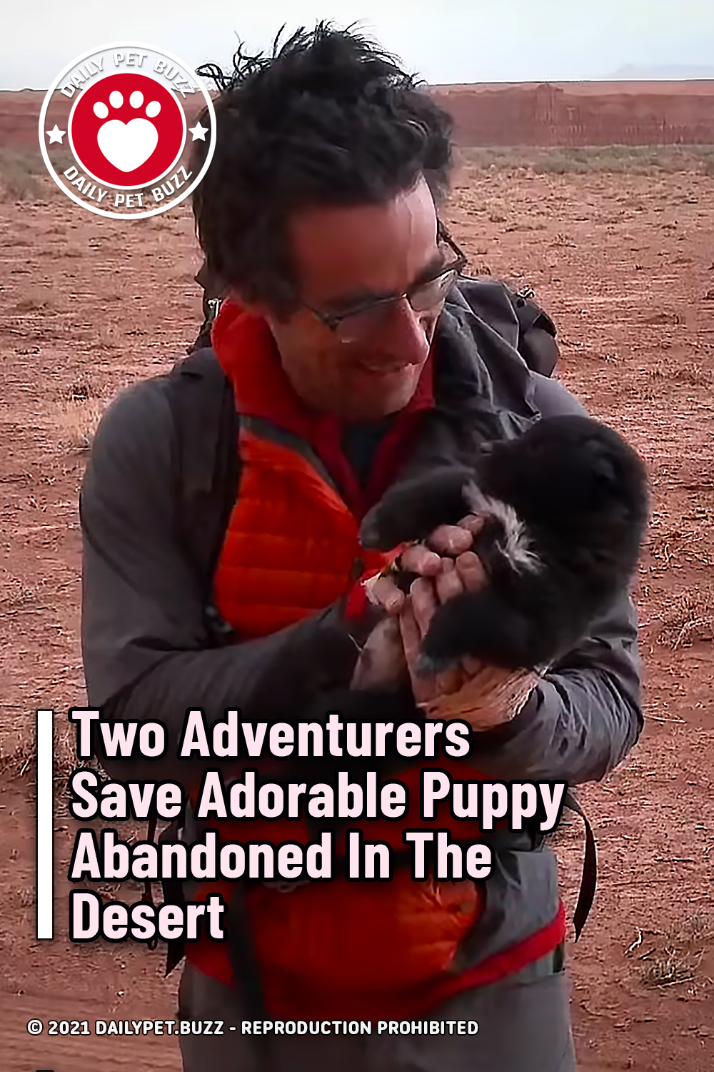 Two Adventurers Save Adorable Puppy Abandoned In The Desert