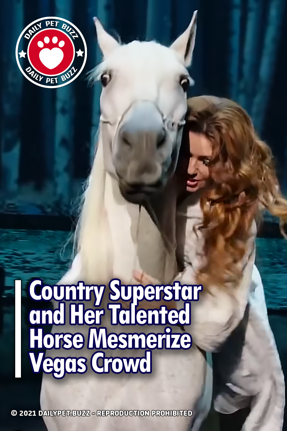 Country Superstar and Her Talented Horse Mesmerize Vegas Crowd