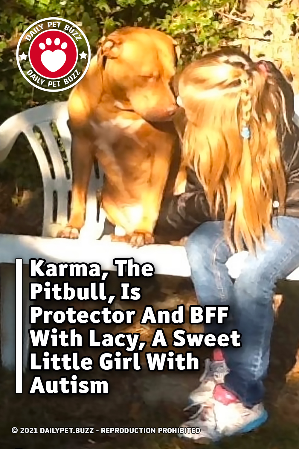 Karma, The Pitbull, Is Protector And BFF With Lacy, A Sweet Little Girl With Autism