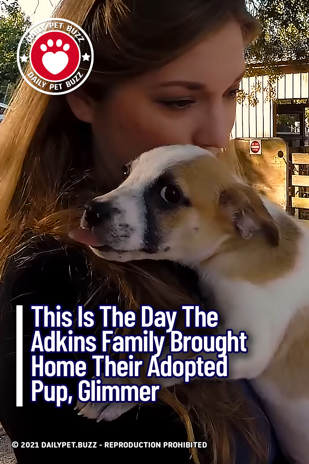 This Is The Day The Adkins Family Brought Home Their Adopted Pup, Glimmer