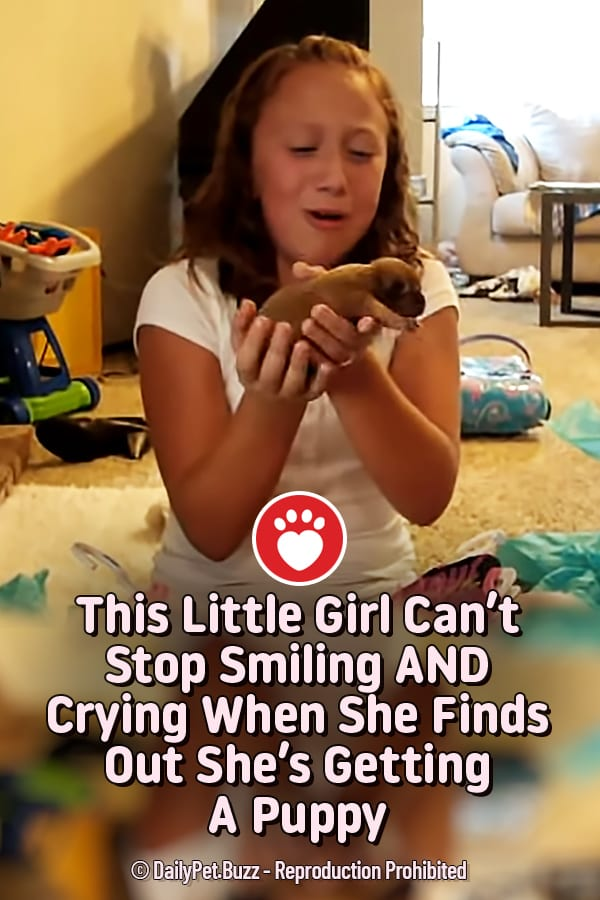 This Little Girl Can\'t Stop Smiling AND Crying When She Finds Out She\'s Getting A Puppy