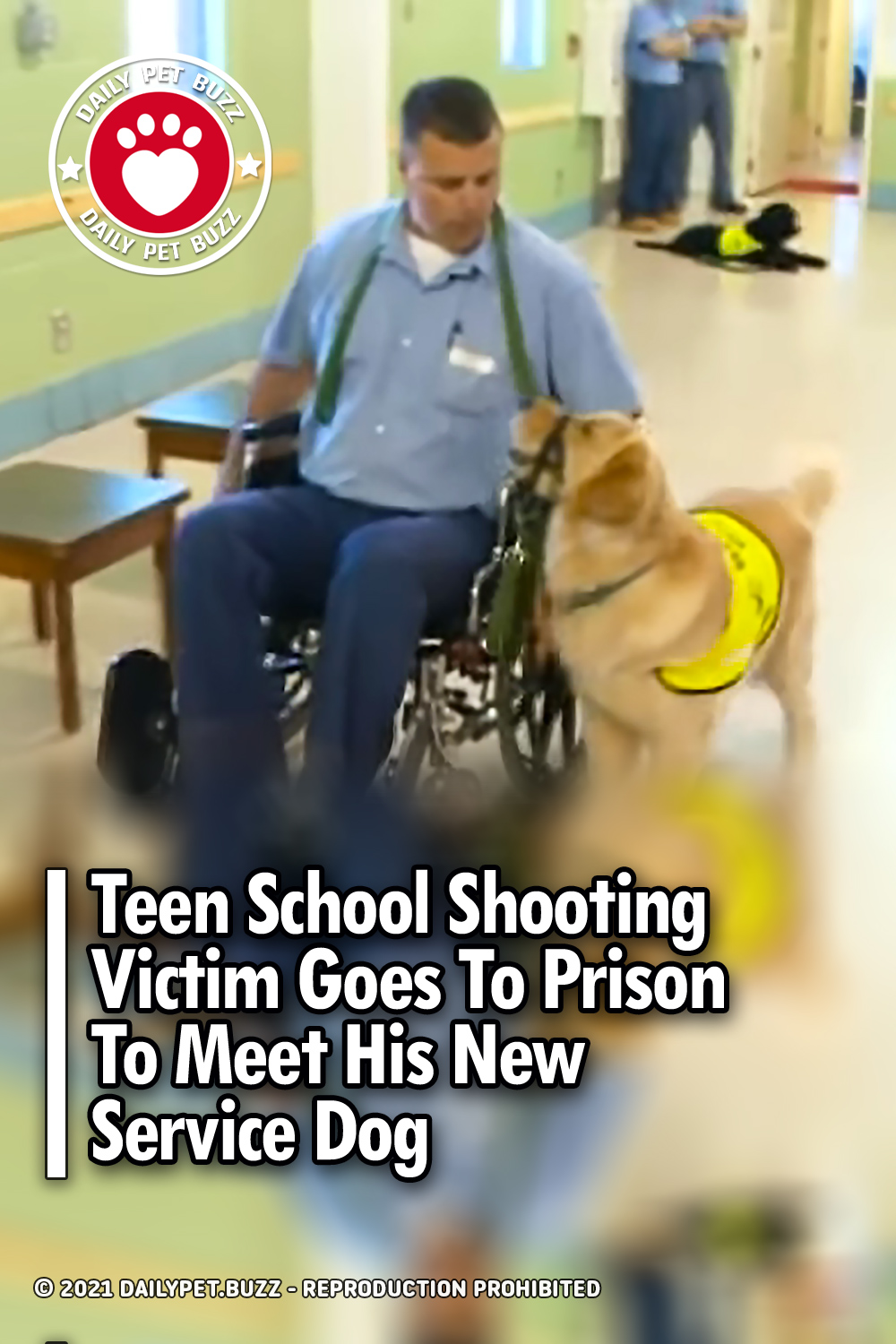 Teen School Shooting Victim Goes To Prison To Meet His New Service Dog