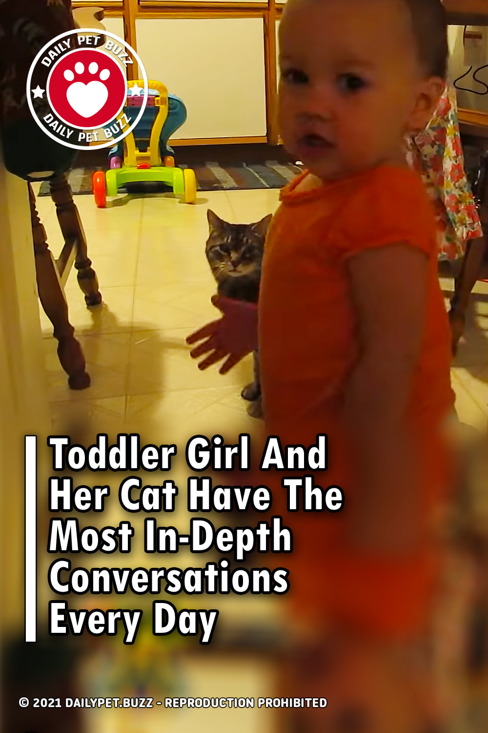 Toddler Girl And Her Cat Have The Most In-Depth Conversations Every Day