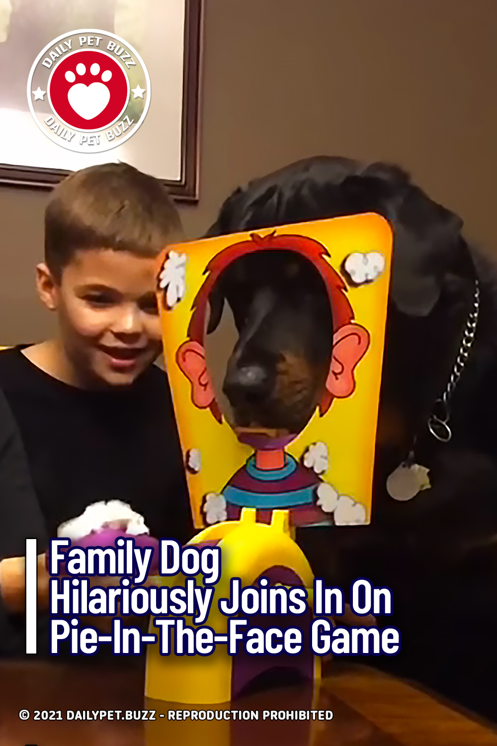 Family Dog Hilariously Joins In On Pie-In-The-Face Game