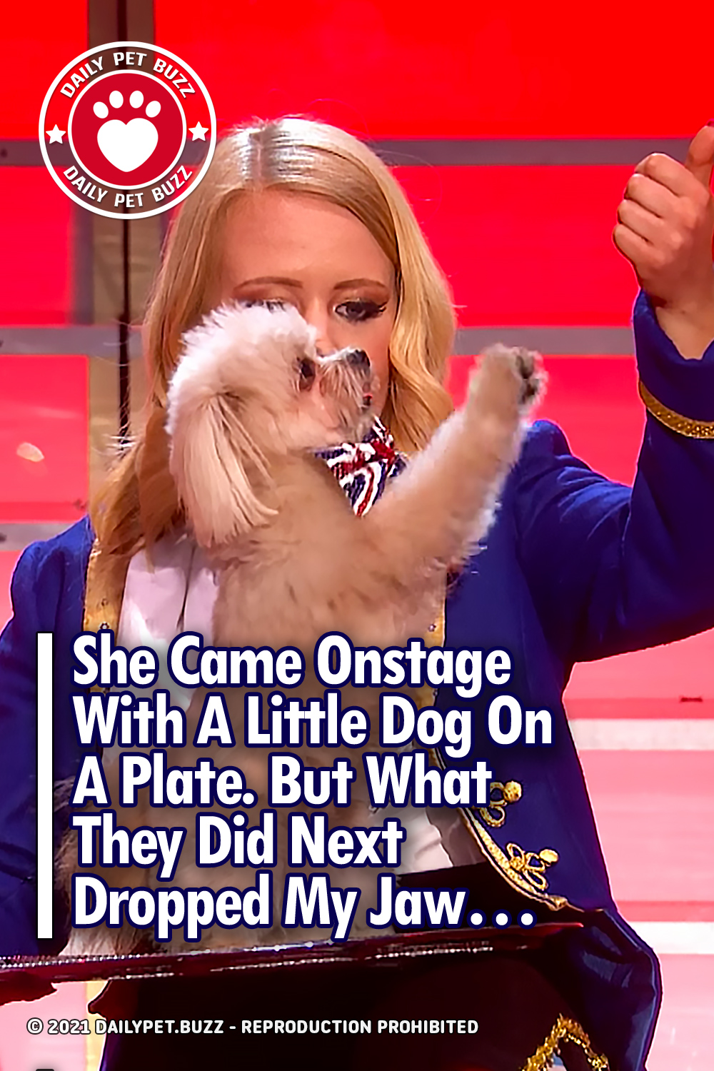 She Came Onstage With A Little Dog On A Plate. But What They Did Next Dropped My Jaw...