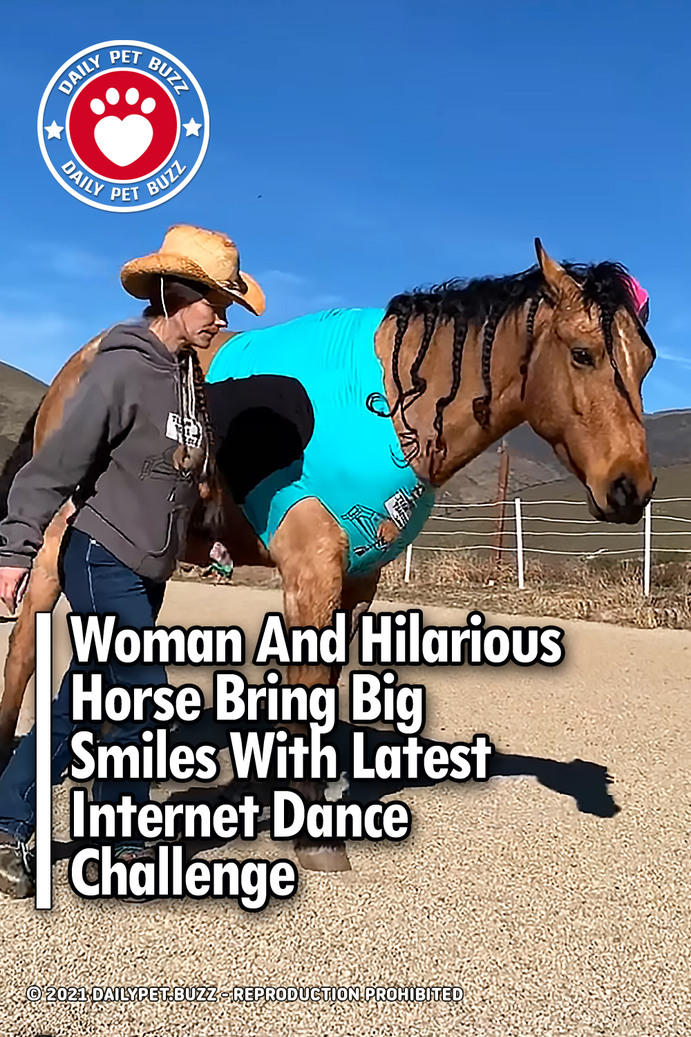Woman And Hilarious Horse Bring Big Smiles With Latest Internet Dance Challenge