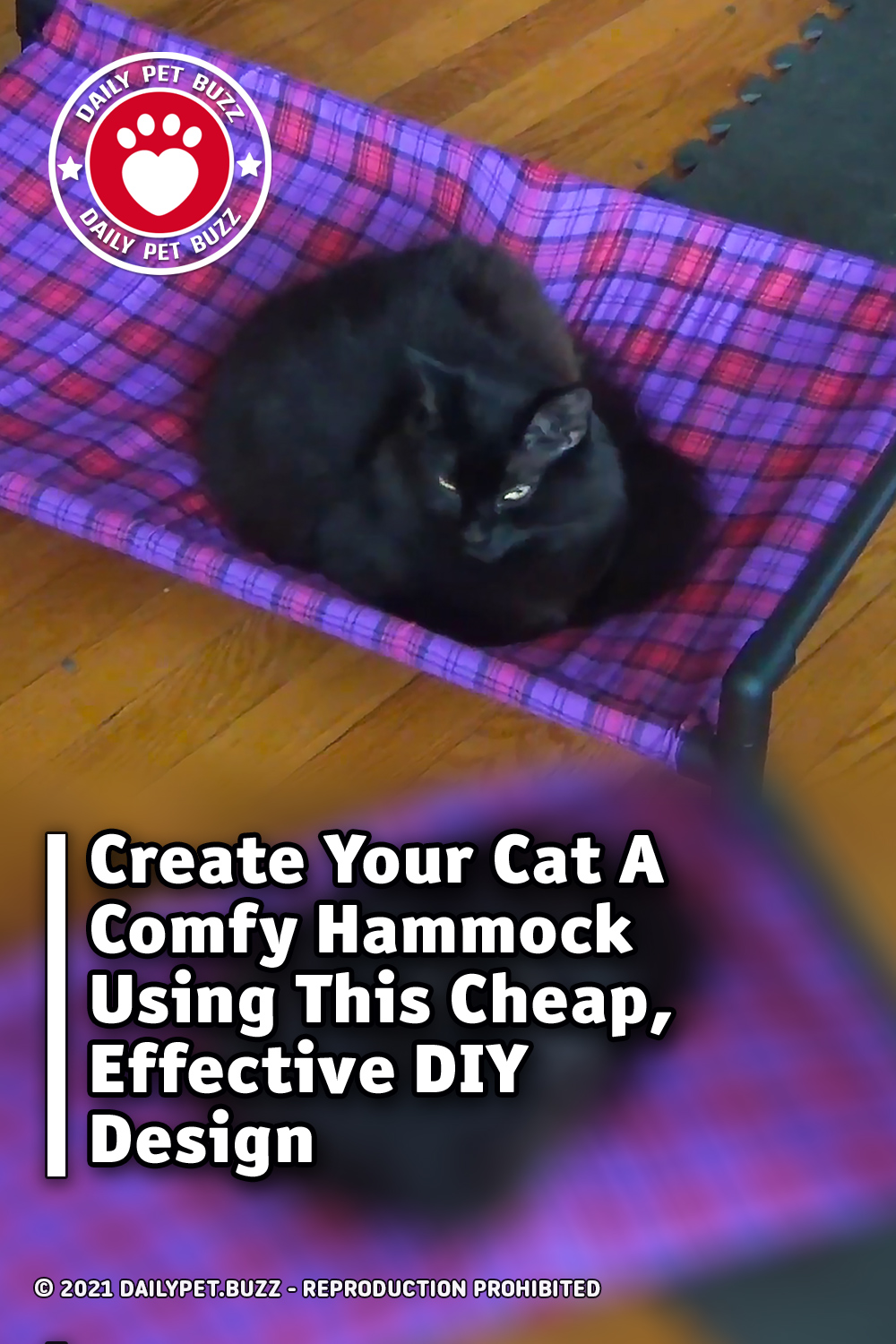 Create Your Cat A Comfy Hammock Using This Cheap, Effective DIY Design