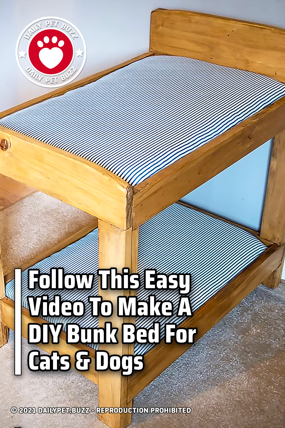Follow This Easy Video To Make A DIY Bunk Bed For Cats & Dogs