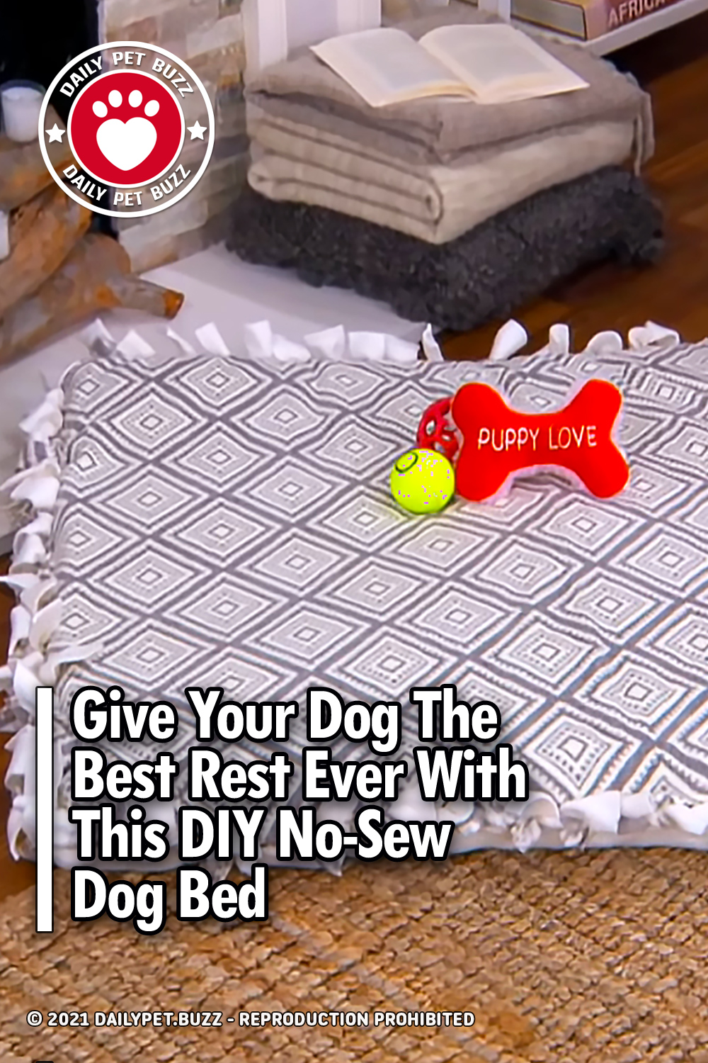 Give Your Dog The Best Rest Ever With This DIY No-Sew Dog Bed