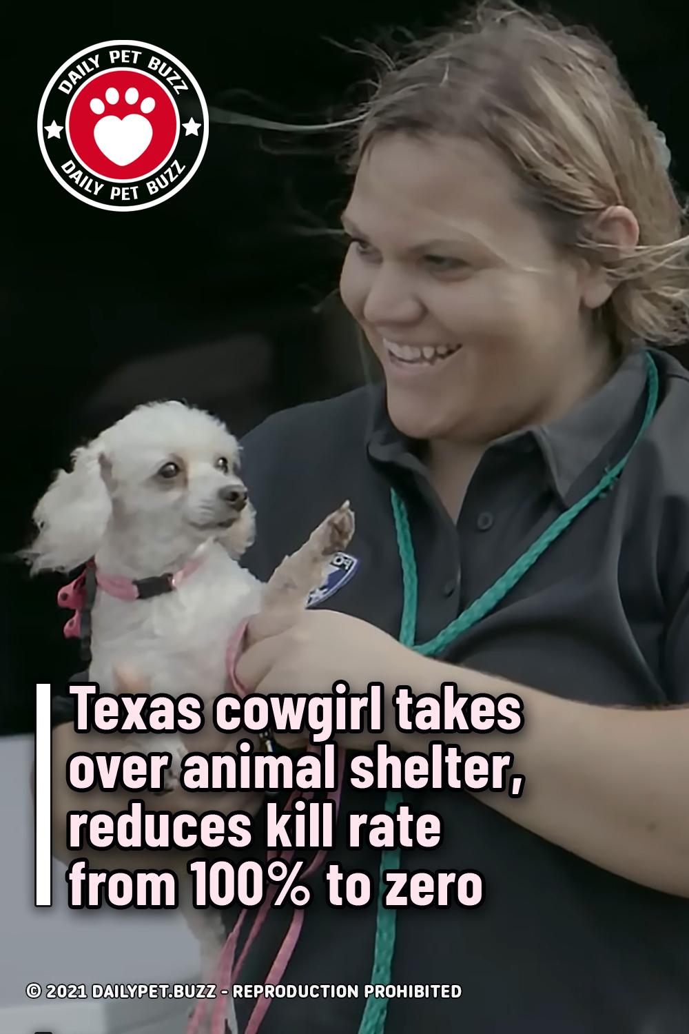Texas cowgirl takes over animal shelter, reduces kill rate from 100% to zero