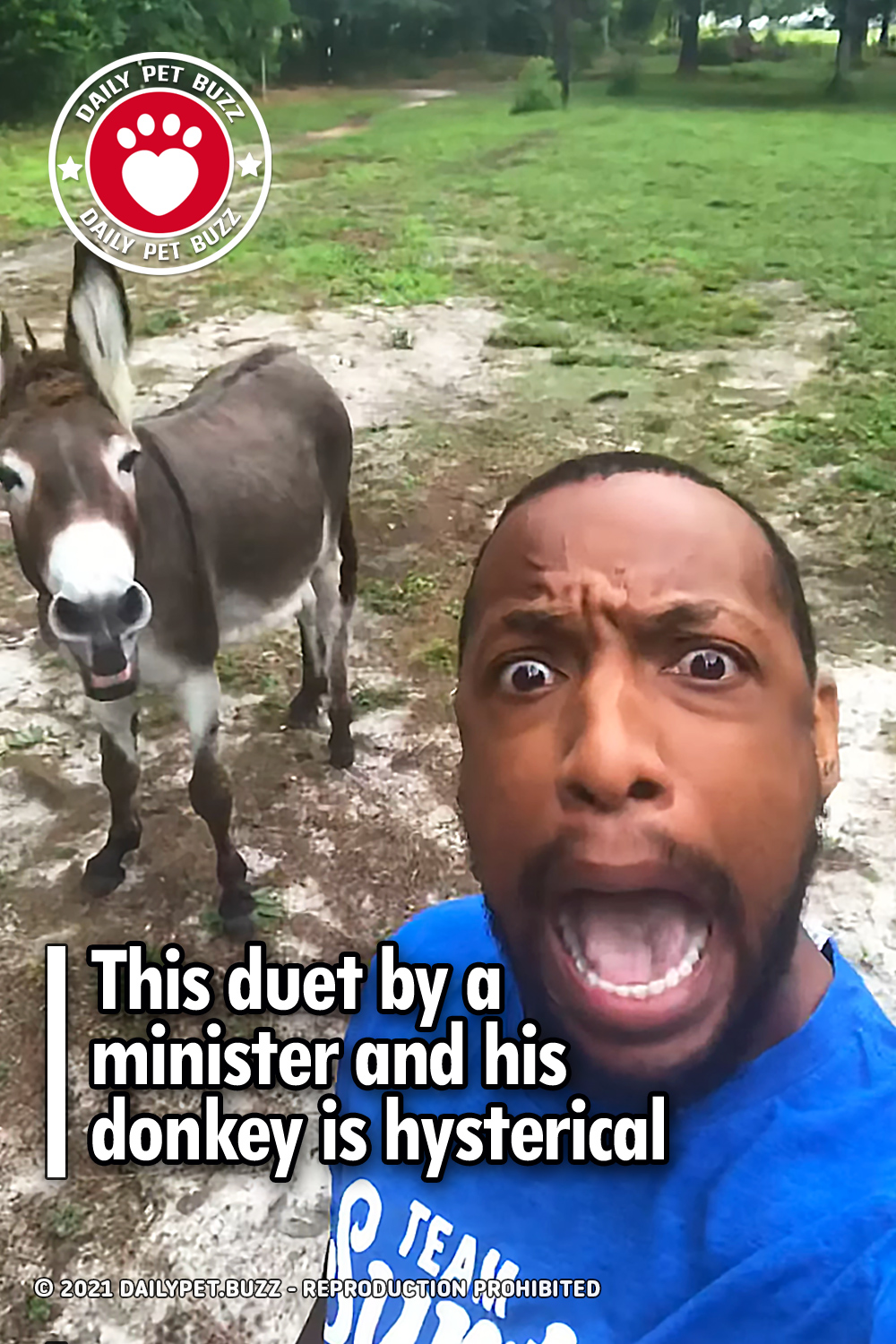This duet by a minister and his donkey is hysterical