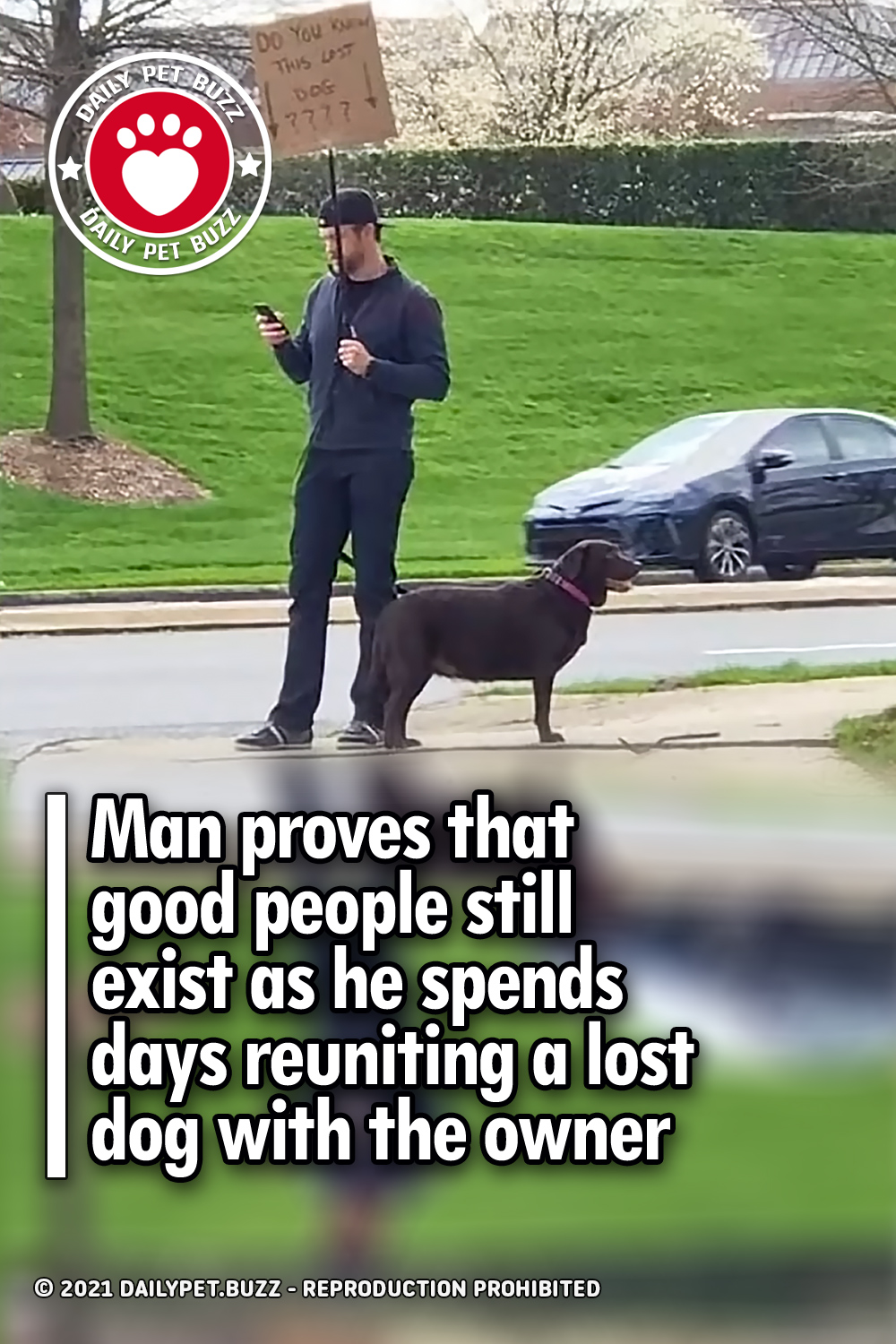 Man proves that good people still exist as he spends days reuniting a lost dog with the owner