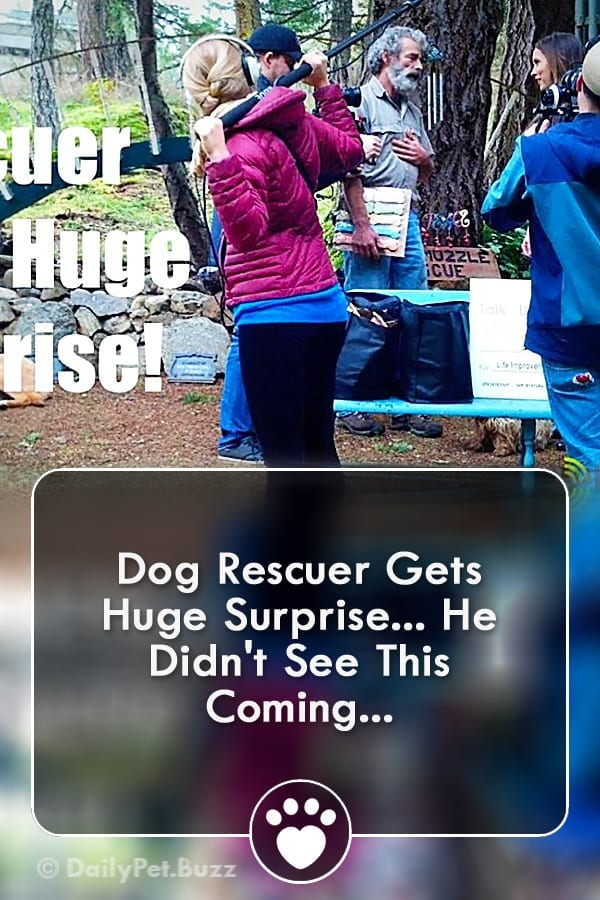 Dog Rescuer Gets Huge Surprise... He Didn\'t See This Coming...