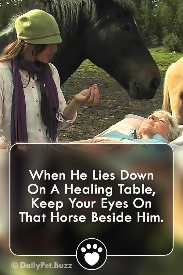 When He Lies Down On A Healing Table, Keep Your Eyes On That Horse Beside Him.