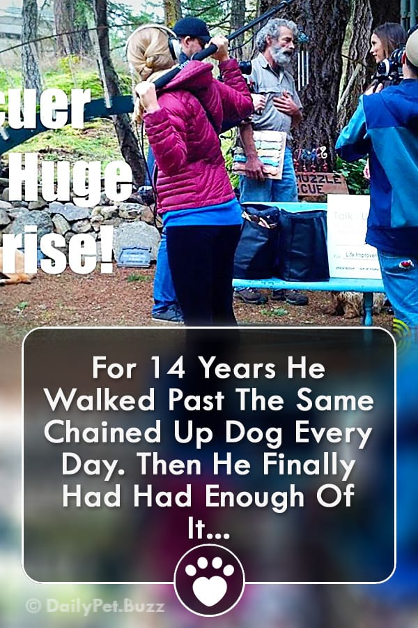 For 14 Years He Walked Past The Same Chained Up Dog Every Day. Then He Finally Had Had Enough Of It...