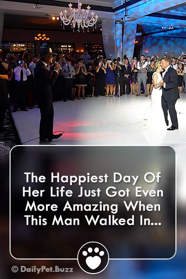 The Happiest Day Of Her Life Just Got Even More Amazing When This Man Walked In...