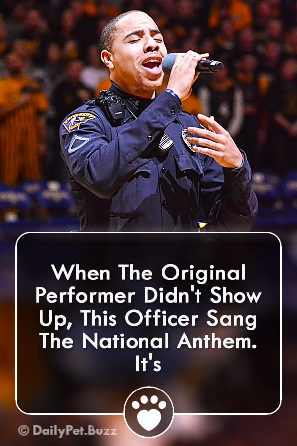 When The Original Performer Didn\'t Show Up, This Officer Sang The National Anthem. It\'s
