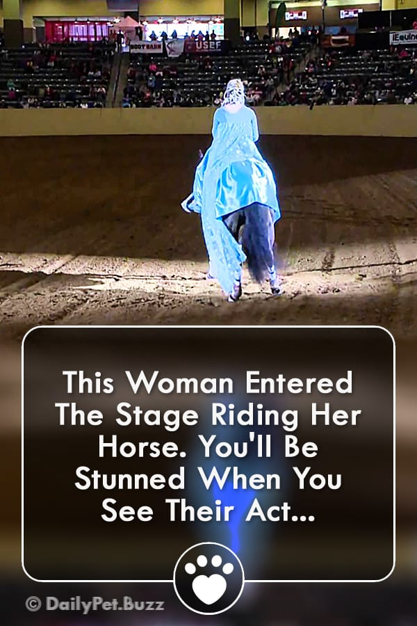 This Woman Entered The Stage Riding Her Horse. You\'ll Be Stunned When You See Their Act...