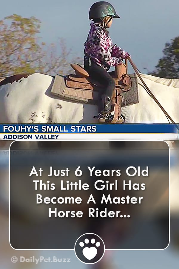 At Just 6 Years Old This Little Girl Has Become A Master Horse Rider...