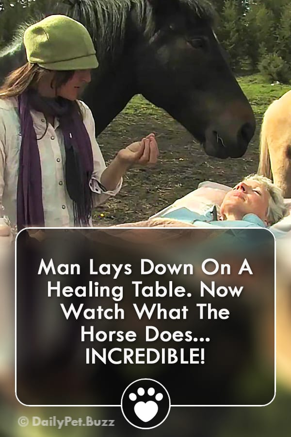 Man Lays Down On A Healing Table. Now Watch What The Horse Does... INCREDIBLE!
