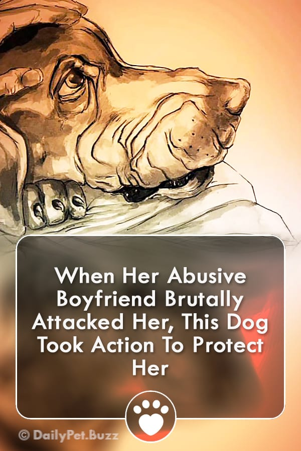 When Her Abusive Boyfriend Brutally Attacked Her, This Dog Took Action To Protect Her