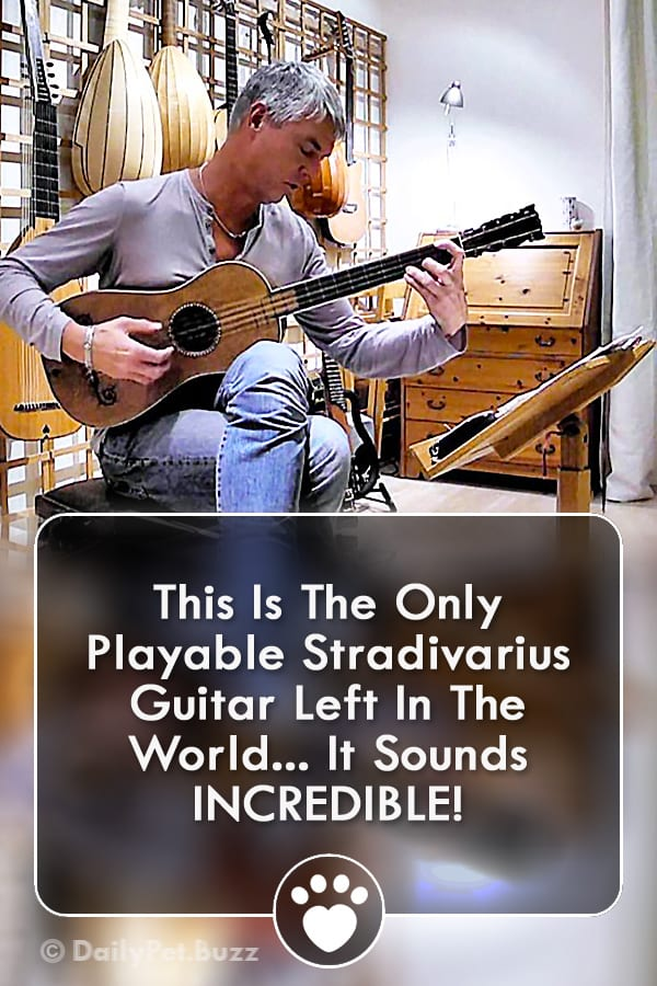 This Is The Only Playable Stradivarius Guitar Left In The World... It Sounds INCREDIBLE!