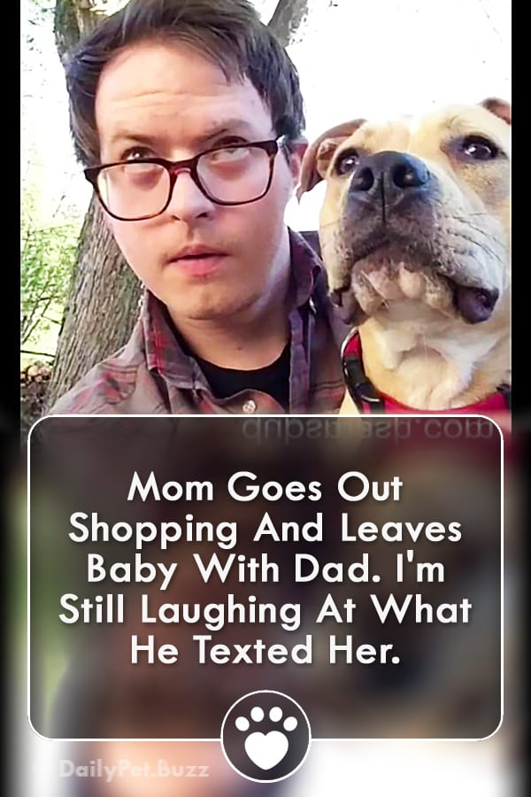 Mom Goes Out Shopping And Leaves Baby With Dad. I\'m Still Laughing At What He Texted Her.