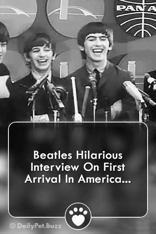 Beatles Hilarious Interview On First Arrival In America...