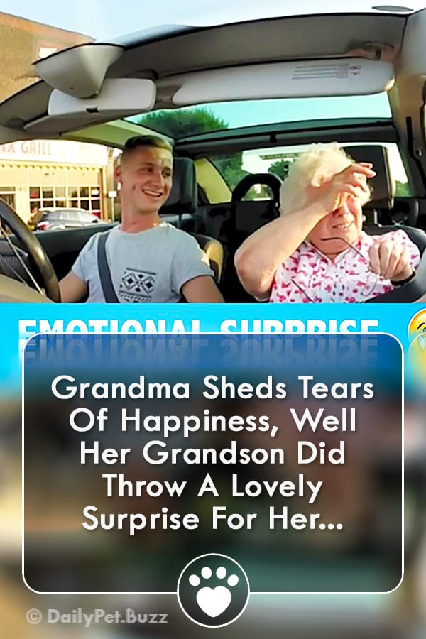 Grandma Sheds Tears Of Happiness, Well Her Grandson Did Throw A Lovely Surprise For Her...