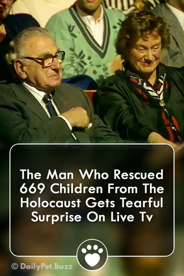 The Man Who Rescued 669 Children From The Holocaust Gets Tearful Surprise On Live Tv