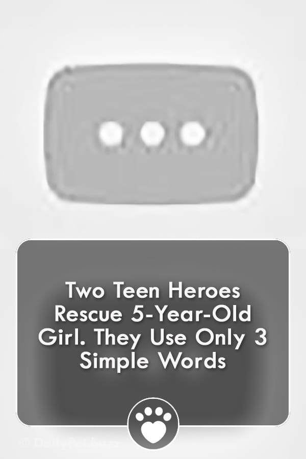 Two Teen Heroes Rescue 5-Year-Old Girl. They Use Only 3 Simple Words