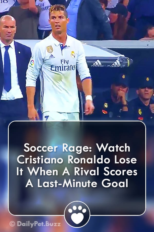 Soccer Rage: Watch Cristiano Ronaldo Lose It When A Rival Scores A Last-Minute Goal