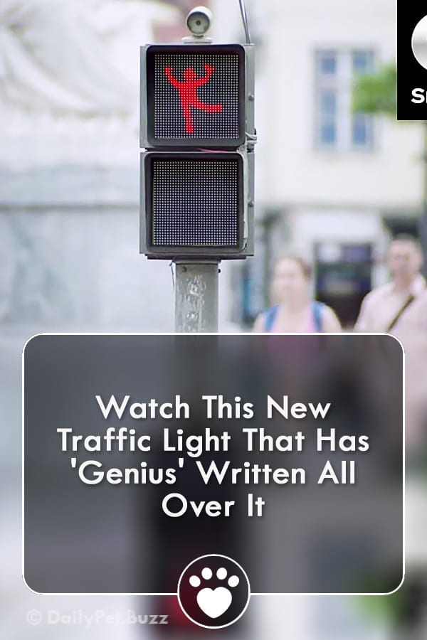 Watch This New Traffic Light That Has \'Genius\' Written All Over It