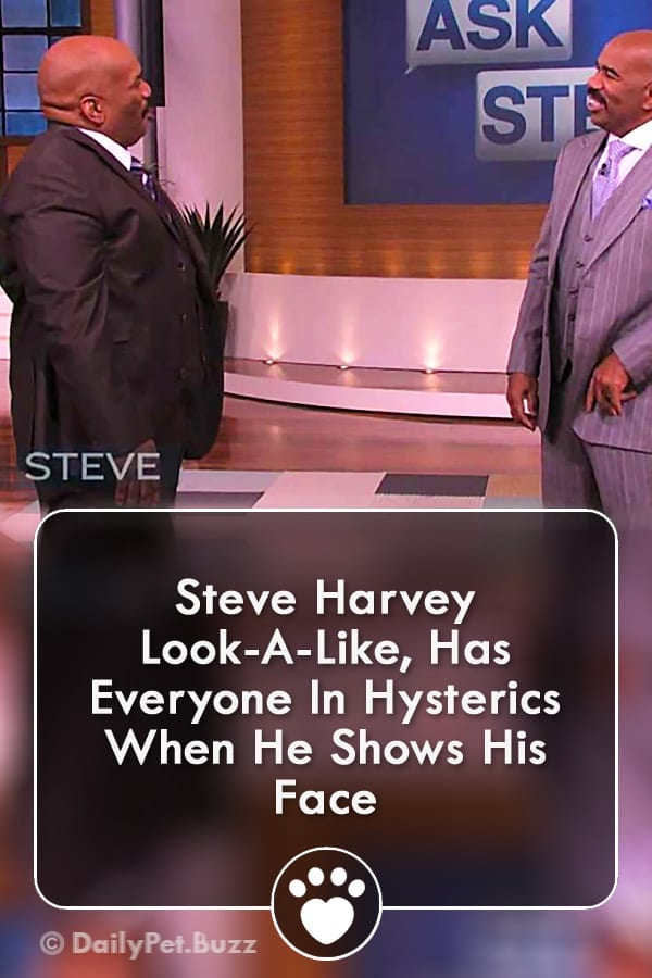 Steve Harvey Look-A-Like, Has Everyone In Hysterics When He Shows His Face