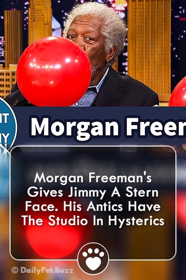 Morgan Freeman\'s Gives Jimmy A Stern Face. His Antics Have The Studio In Hysterics