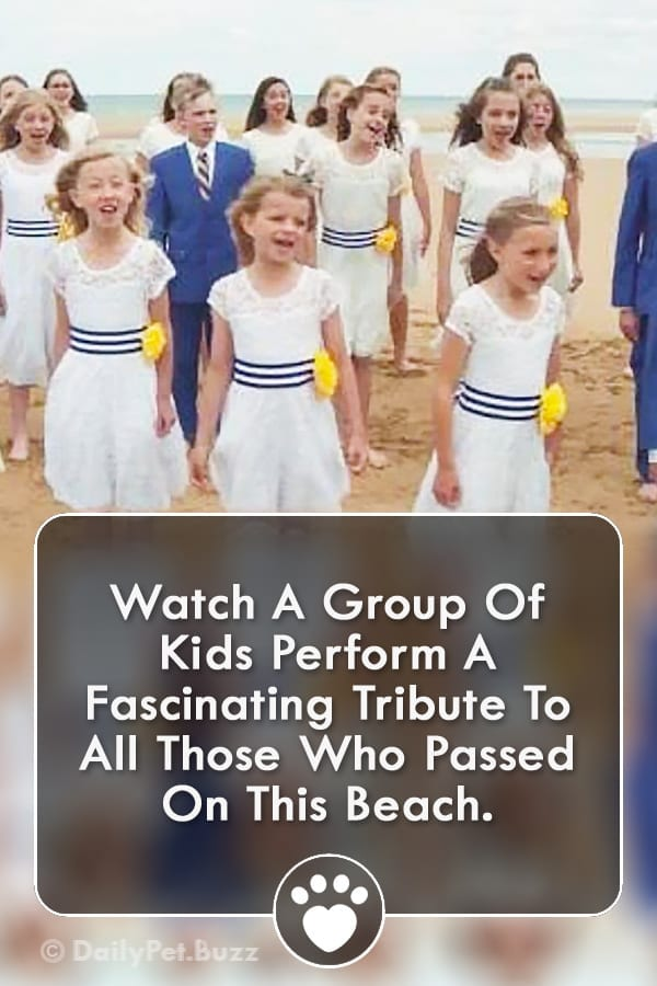 Watch A Group Of Kids Perform A Fascinating Tribute To All Those Who Passed On This Beach.
