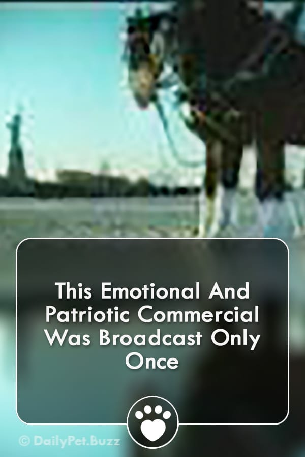 This Emotional And Patriotic Commercial Was Broadcast Only Once