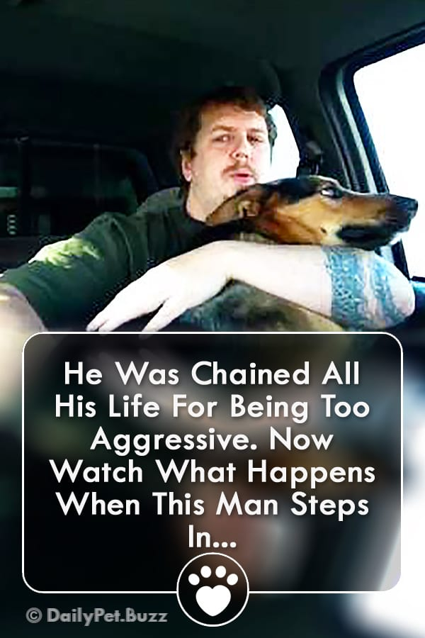 He Was Chained All His Life For Being Too Aggressive. Now Watch What Happens When This Man Steps In...