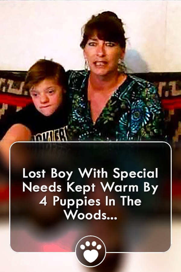 Lost Boy With Special Needs Kept Warm By 4 Puppies In The Woods...