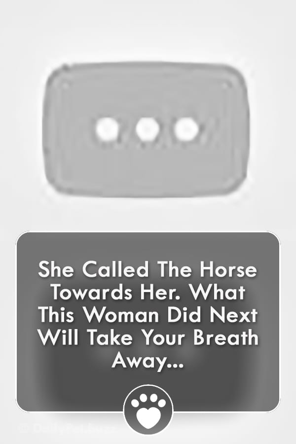 She Called The Horse Towards Her. What This Woman Did Next Will Take Your Breath Away...